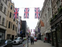 Westminster, Union Jacks in Old Bond Street, London © Paul Farmer